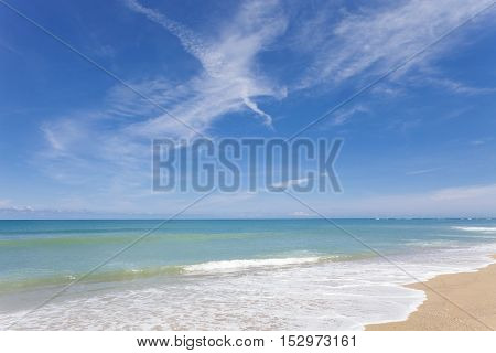 beautiful beach and tropical seafor scenery summer background