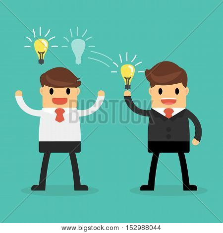 Business concept Ideas Sharing. Ideas Sharing concept