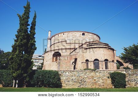 The Rotunda of Galerius Thessaloniki Greece. UNESCO World Heritage Site. Paleochristian and Byzantine Monuments of Thessaloniki
