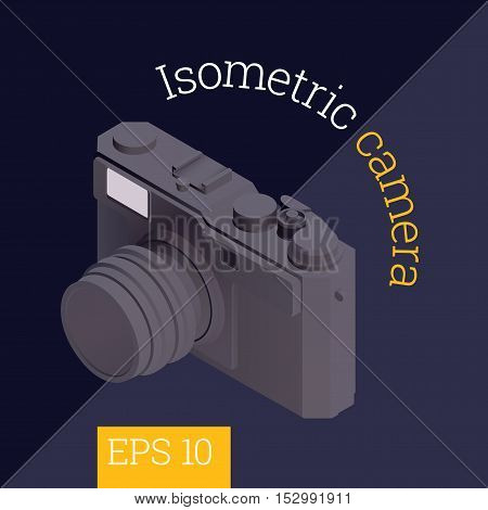 Camera Isometric Vector Illustration