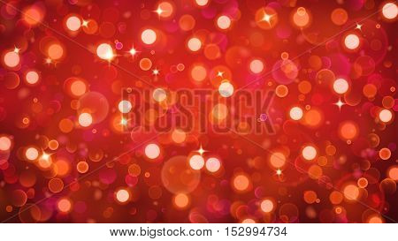 Abstract Background With Bokeh Effect In Red