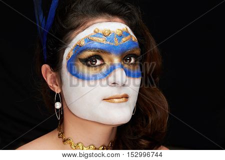 Women With Mask Makeup