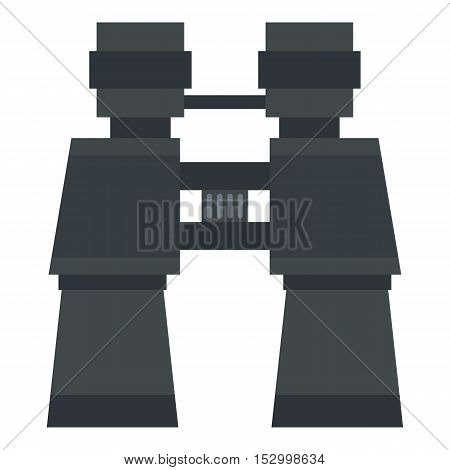 Binoculars icon. Flat illustration of binoculars vector icon for web design