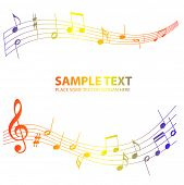 color music notes background poster