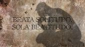 Beata Solitudo, Sola Beatitudo. A Latin phrase meaning Blessed solitude, only happiness. poster
