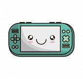 video game portable device vector illustration design poster