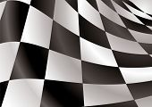 Finishing checkered flag style background with abstract squares poster