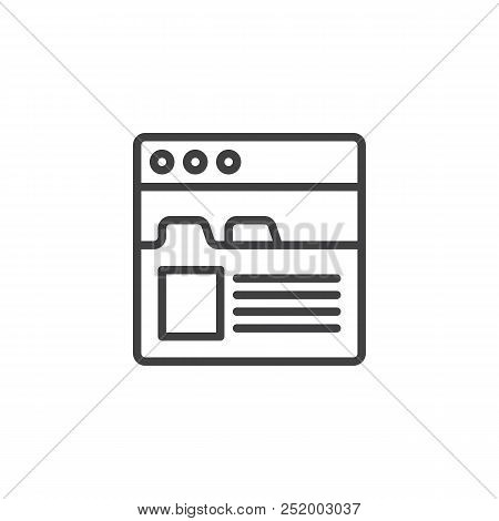 Browser Tabs Outline Vector & Photo (Free Trial) | Bigstock