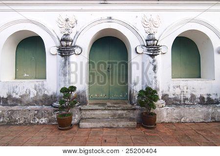 Window And Door Of Building