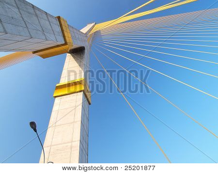 Mega Sling Bridge,rama 8, In Bangkok Thailand