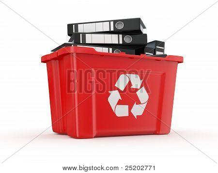 Folders In Recycle Bin. 3D
