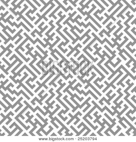 Labyrinth (maze). Vector seamless wallpaper.