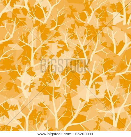 Seamless vector wallpaper. Autumn forest. All colors easy for change