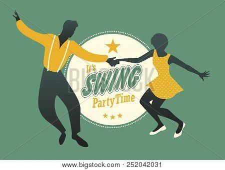 Young Couple Dancing Swing, Rock Or Lindy Hop