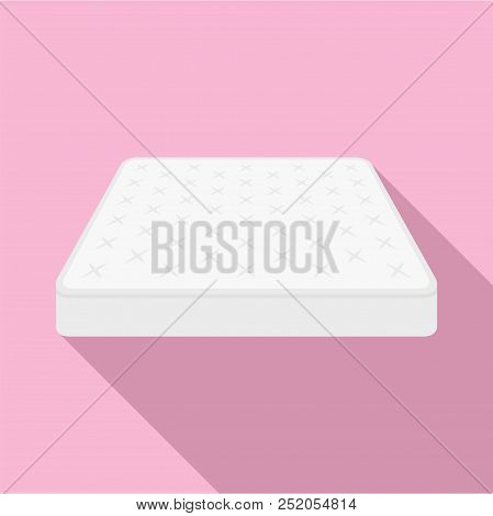 King Size Mattress Icon. Flat Illustration Of King Size Mattress Vector Icon For Web Design