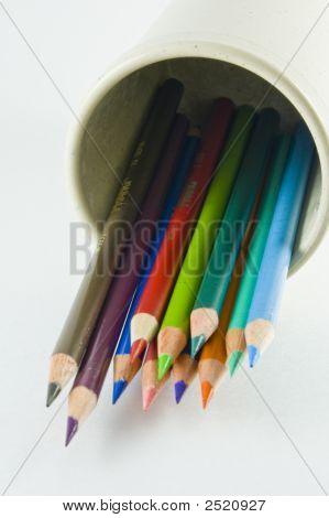 Fallen Cup Of Pencils