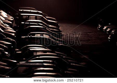 Stylized Photo Of Parking At Night