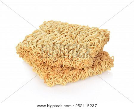 A Instant Noodles Isolated On White Background