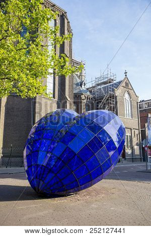 Delft, Netherlands - July 03, 2018: Sculptural Composition