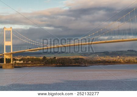 The Old Severn Crossing (welsh Pont Hafren) Bridge That Crosses From England To Wales Across The Riv