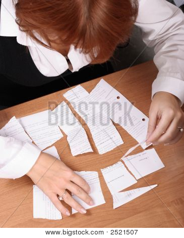 Businesswoman Stress