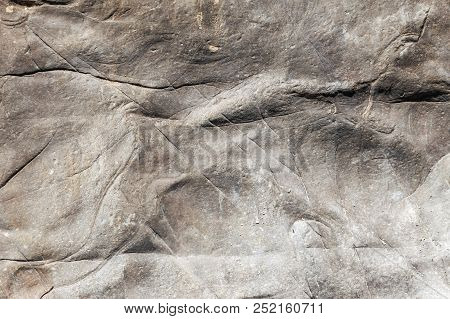 The Texture Of A Stone Abstract Pattern In Nature. Photo Shows A Stone Texture. The Texture Of The S