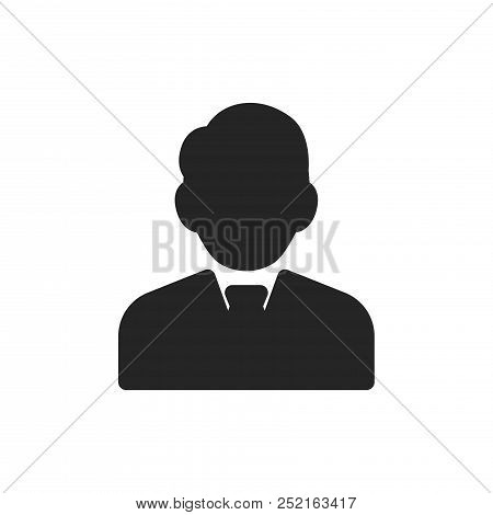 Businessman Icon Isolated On White Background. Businessman Icon Modern Symbol For Graphic And Web De