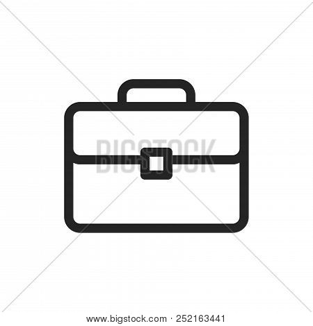 Briefcase Icon Isolated On White Background. Briefcase Icon Modern Symbol For Graphic And Web Design