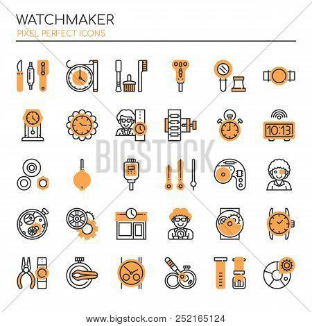 Watchmaker , Thin Line And Pixel Perfect Icons