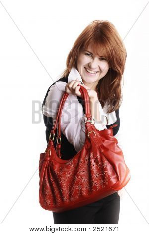 Attractive Woman Having A Great Day
