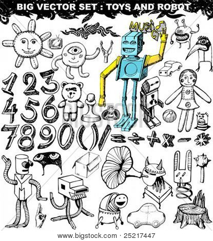 big vector set : Doodles