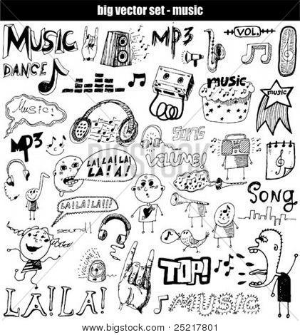 vector set : music