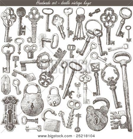 handmade work - vintage key