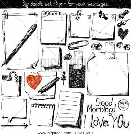 Big doodle set : Paper for your message