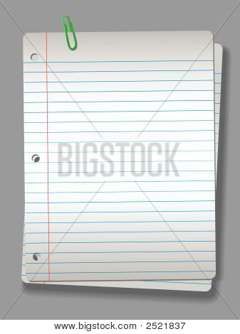 Notebook Paper 2 Pages & Clip Horizontal Light