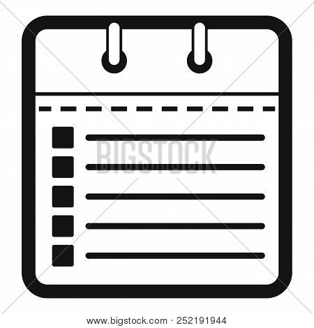 Calendar List Icon. Simple Illustration Of Calendar List  Icon For Web