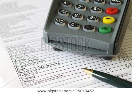 Credit Card Terminal on Accounts Sheet