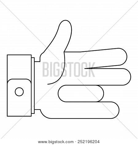 One Finger Icon. Outline Illustration Of One Finger  Icon For Web