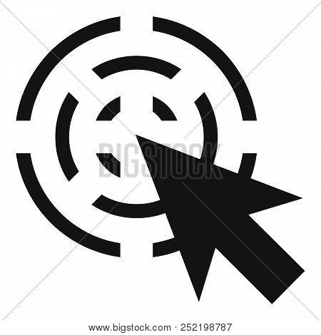 Cursor Interactive Icon. Simple Illustration Of Cursor Interactive  Icon For Web