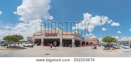Panorama View Entrance To Costco Wholesale Store In Lewisville, Texas