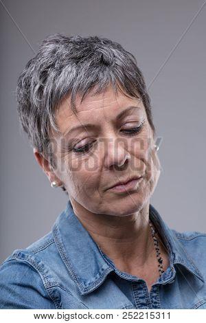 Thoughtful Sad Or Depressed Senior Woman