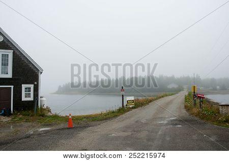 Oak Island In The Fog - Nova Scotia - Canada
