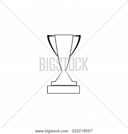 Silhouette Cup Award. Modern Symbol Of Victory, Award Achievement Sport. Insignia Ceremony Awarding