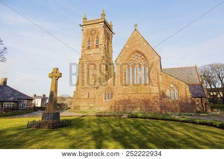Peel Cathedral On The Isle Of Man. Peel, Isle Of Man.