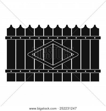 Wooden Peak Fence Icon. Simple Illustration Of Wooden Peak Fence  Icon For Web.