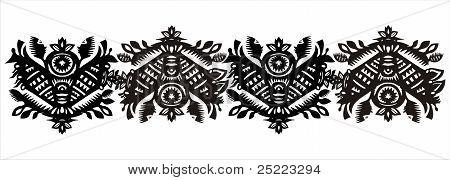 Black Decorative Ornamental Pattern