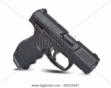 Black Semi Automatic Handgun