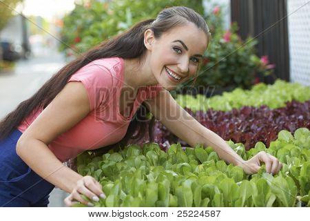 Working At Garden Store