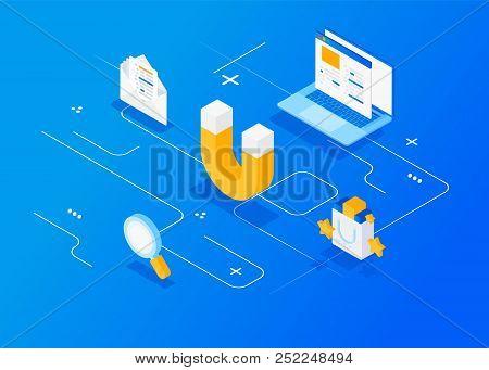 Digital Inbound Marketing.  Attracting Online Customers. Inbound Marketing.