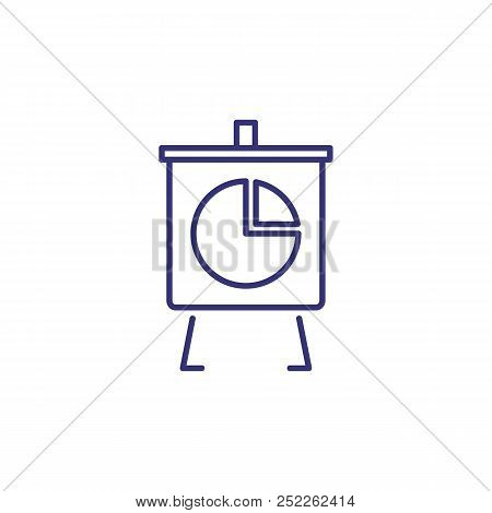 Office Board Line Icon. Graph, Presentation, Analytics. Analysis Concept. Can Be Used For Topics Lik